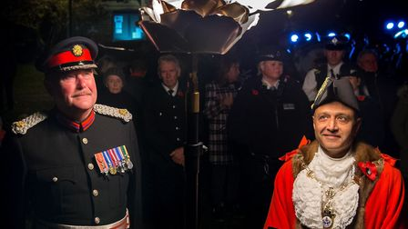 The mayor of Havering, Councillor Dilip Patel, and Havering's deputy lieutenant, Colonel Mark Bryant