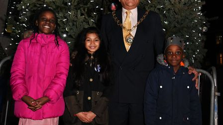 The Barkingside Christmas lights switch on event at Ken Aston Square.