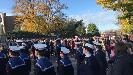 A Remembrance Day parade and service were held in Hornchurch this morning, Sunday, November 11.