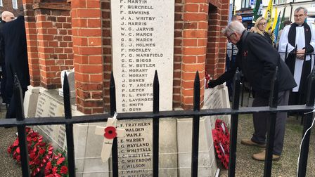 The Rev David Stainer led a service at the memorial.