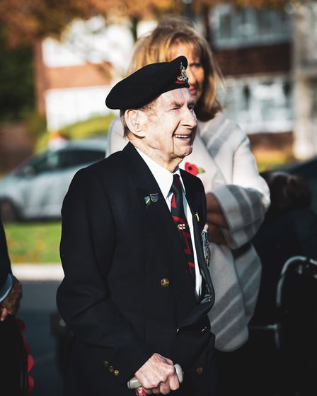 Residents of Hainault gathered to pay their respects to the fallen at the 2018 Remembrance Day servi