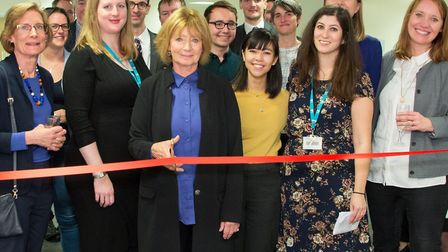Prof Dame Hazel Genn opening UCL's Centre for Access to Justice in Stratford with her legal team. Pi