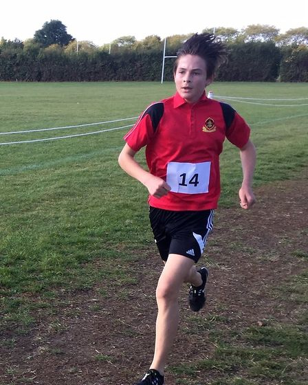 Dan Houchell at the English School's Cross-Country Cup