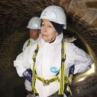 HRH The Princess Royal visited the Abbey Mills pumping station to learn more about the biggest expan