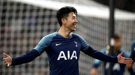 Tottenham Hotspur's Son Heung-min celebrates scoring his side's second goal of the game during the C