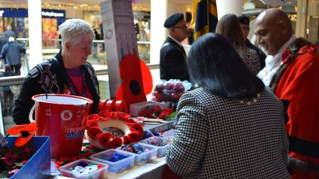 Poppy sellers will be at The Mercury Mall until November 10. Photo: The Mercury Mall