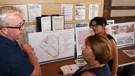Plans for the Wanstead Pool proposal were previouslt unveiled at Wanstead Library. Cllr Paul Donovan