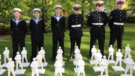 Members of the Hornchurch and Upminster Sea Cadets were invited to the launch of the Remembrance Art