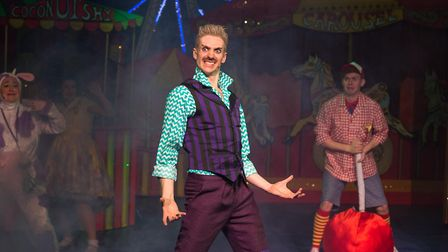 Taylor Rettkle in the Queen's Theatre's pantomime Jack and the Beanstalk. Photo: Mark Sepple