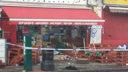 Police cordon on Ley street after the attack. Picture: Ellena Cruse