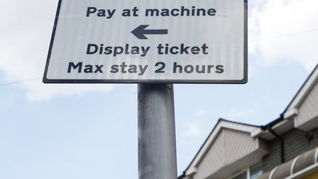 Parking restriction sign in Shirley Road, Stratford.