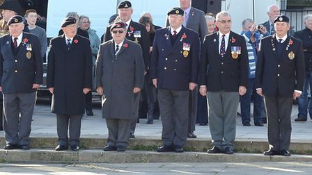 The annual Armistice Day Service on the Royal Plain in Lowestoft