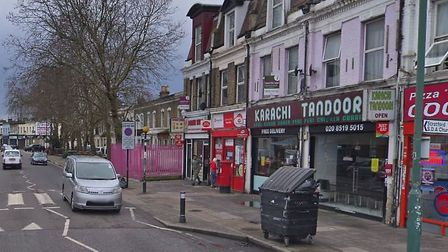 Leytonstone Road, where the cashpoint robbery took place. Picture: Google