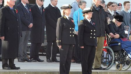 The Armistice Day Service in Lowestoft. Pictures: Mick Howes