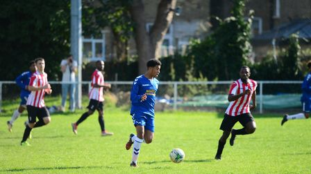 Woodford Town's Marcel MacDonald (pic: Tim Edwards).