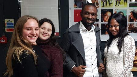 L-R: Lucy-Paige Willingham, Daisy Robbins, Seun Oshinaike and Esther Showemimo at the People Like Us