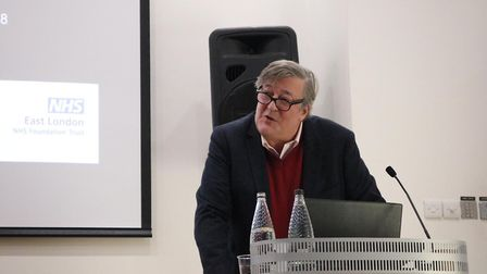Stephen Fry speaking at the conference. Picture: ELFT
