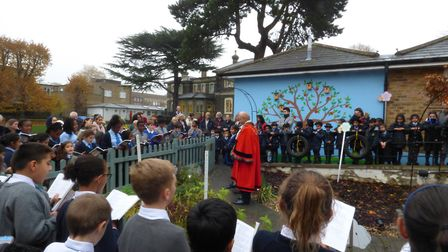 The Mayor of Havering officially opened the sensory garden at Gidea Park College (pic Gidea Park Col