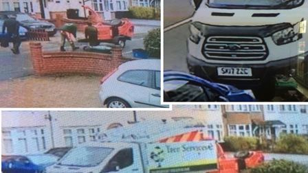 Police are investigating after it was alleged that these men posing as tree surgeons frauded an elde