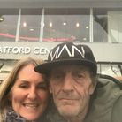 L to R: Justine Turvey and homeless hero Paul (Picture: Justine Turvey)