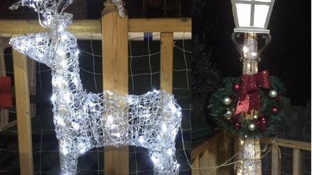 A light up Reindeer and vintage lamppost were stolen from a Romford home. Photo: Joanna James