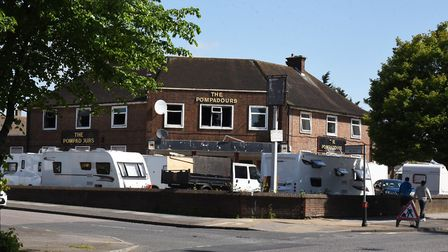 Travellers at the derelict Pompadours pub are causing concern for local residents