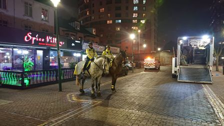 Horse were used to engage the public in Ilford. Picture: Ellena Cruse