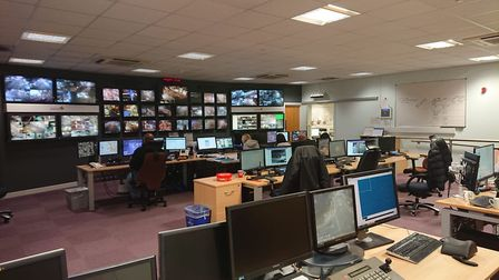 The Ley Street control room, where staff watch what is going on in Redbridge. Picture: Ellena Cruse