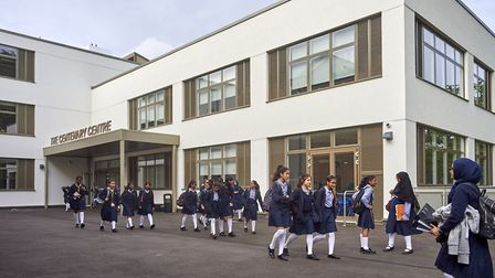 The Sunday Times said Woodford County High School was the best state secondary school in London. Pic