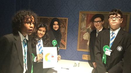 Year nine and ten pupils created their own political parties during the visit. Picture: ROYAL DOCKS