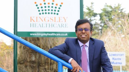 Daya Thayan, CEO of Kingsley Healthcare based in Lowestoft.Picture: James Bass