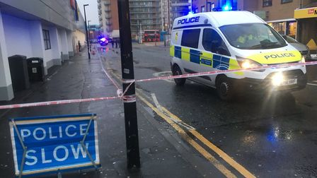 A teenager was taken to hospital after he was stabbed in Romford this afternoon. Photo: Liam Coleman