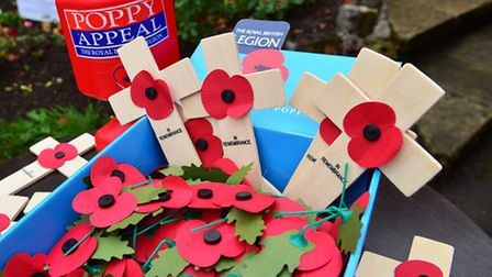 The poppy appeal crosses can be bought from the Lowestoft War Museum.