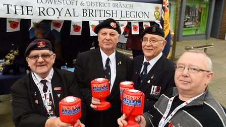 Members of the Lowestoft and District Royal British Legion.Picture: James Bass