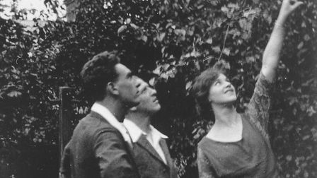 Edith with her lover, Freddy Bywaters, and husband, Percy Thompson, in their garden in Ilford. Pictu