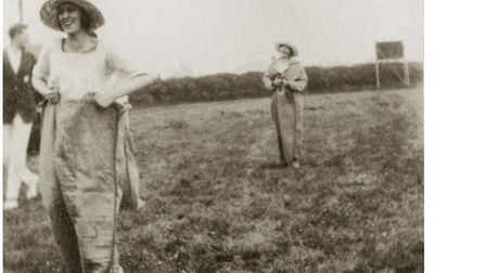 Professor Wilson's favourite photo of Edith, where she's competing in a sack race. Picture: Rene Wil