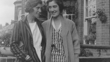 Edith with her sister, Avis. Picture: Rene Wilson