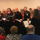 The choir – made up of hospice volunteers, staff and families performing at its Autumn Voices concer