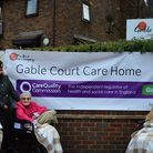 Staff and members of Gable Court care home were celebrating after a 'good' report from the Care Qual