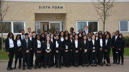 The Brampton Manor Academy pupils who have received Oxbridge offers. Picture: Sam Dobin