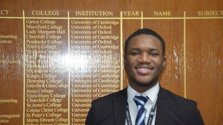 Victor Idowu has received an offer to study medicine at Selwyn College, Cambridge. Picture: Sam Dobi