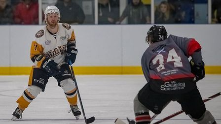 Raiders defenceman John Connolly in action against Basingstoke Bison (Pic: Kev Lamb)