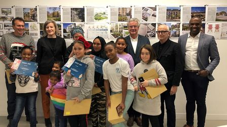 A team of seven children won the contest with a heart-shaped house. The breif was to design 'the hom