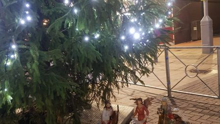 The figures were installed underneath the Christmas Tree. Picture BPCA
