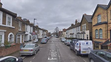 The man was stabbed in Field Road, Forest Gate. Pic: Google