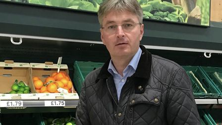 Daniel Kawczynski MP checking out the lemons in his local Tesco. (Photograph: Twitter)