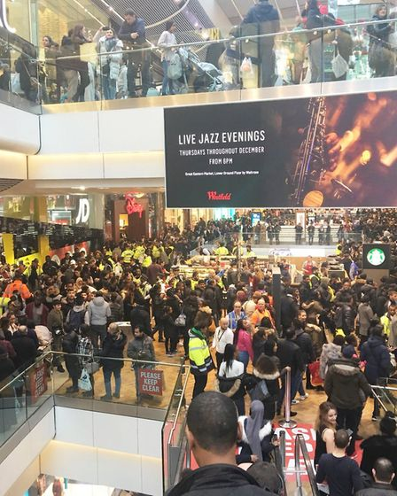 A number of arrests were made after a fight in Westfield last year on Boxing Day. Picture: Twitter@n
