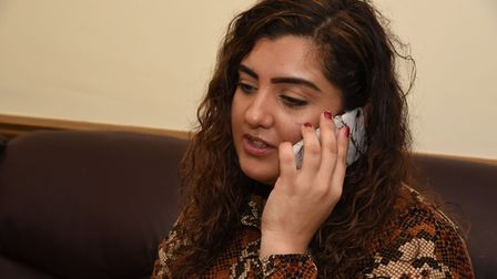 Sameena Ashgar who was on the phone to assist her daughter.