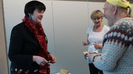 Cllr Susan Masters handing out raffle prizes. Picture: Alzheimer's Society