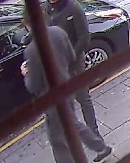 Police would like to speak to this man in connection with the robbery. Pic: Met Police.